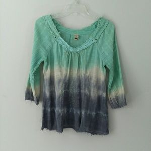Free People Tie Dyed Top Size M